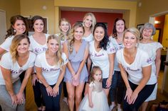 Wedding Party Bridesmaids and Bride - Getting Ready Outfits -  Bridesmaids Gear - Bridesmaids GIfts - Let's Brunch Custom Tee Shirts