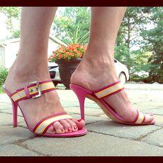 "Selling this ""Pink BCBG Heels"" in my Poshmark closet! My username is: sugarmax9. #shopmycloset #poshmark #fashion #shopping #style #forsale #BCBG #Shoes"