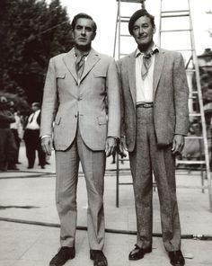 Tyrone Power and Errol Flynn (8x10 photo T3493).