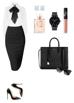 """""""Work conference"""" by bahranita-benyameen on Polyvore featuring Yves Saint Laurent, The Horse, Chanel, NARS Cosmetics, Polo Ralph Lauren, Doublju, Tiffany & Co. and Christian Louboutin"""