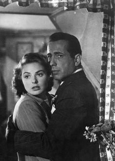 Ingrid Bergman and Humphrey Bogart in Casablanca (1943)