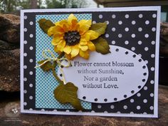 Debra Hensley for ECD using Susan Tierney Cockburn sunflower dies to make a card; Feb 2015