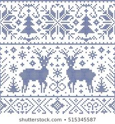Ideas For Crochet Christmas Afghan Patterns Stitches Tree Patterns, Afghan Patterns, Crochet Patterns, Christmas Afghan, Christmas Knitting, Crochet Christmas, Christmas Deer, Fair Isle Knitting Patterns, Knitting Charts