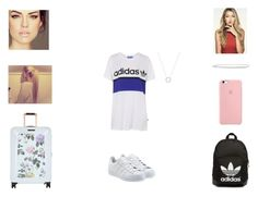 """Frankie - Plane to LA"" by annie-stylesx ❤ liked on Polyvore featuring adidas, Ted Baker, adidas Originals and Michael Kors"