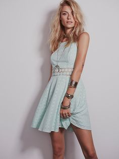 Free People Fitted With Daisies Dress, $128.00