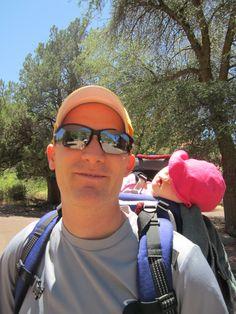 Amanda loves to take naps in her Kilty pack while Jared hikes around kilti pack, jare hike