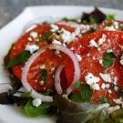 Heirloom Tomato Salad With Goat Cheese Crumbles