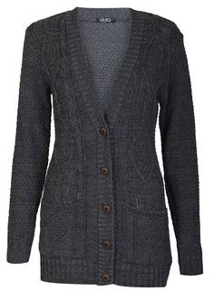 61a1d74bbc2 Forever Womens Long Sleeves Cable Knitted Grandad Button Cardigan at Amazon  Women s Clothing store