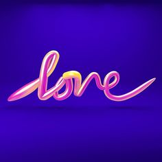 #love #3D #lettering done in #cinema4d #c4d - part of my learn a new thing every day self challenge by johnkappa