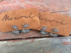 Sunburst Earrings. Hand etched Sterling Silver. By Mouré
