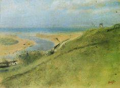 Edgar Degas - Cliffs beside the sea