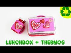How to make a doll lunchbox and thermos version 1 - Easy Doll Crafts - YouTube