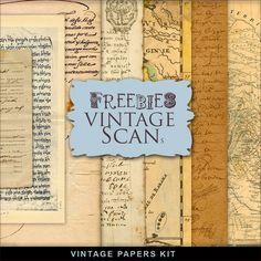 New Freebies Vintage Kit of Papers