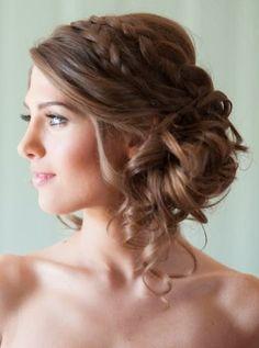peinados de fiesta - peinados para fiesta de noche cabello largo 2015