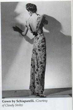 New Ideas For Fashion Dresses Elsa Schiaparelli Vestidos Vintage, Vintage Dresses, Vintage Outfits, Elegant Dresses, Elsa Schiaparelli, 1930s Fashion, Art Deco Fashion, Women's Fashion, Fashion Bags