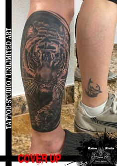 Bengalischer Tiger Realistic-Tattoo (COVER UP)