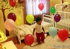 wake up to balloons, best birthday surprise ever for a little one!