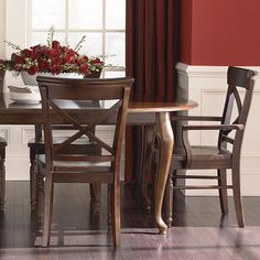 """The Custom Dining 44"""" Oval Table by Bassett Furniture includes one 18"""" leaf to extend to 84"""" and seat up to 8."""