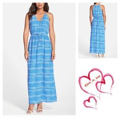 """Ivanka Trump Georgette Maxi Dress size 12 A colorful static print breathes extra life into this comfortable V-neck slipdress loosely cut from flowy georgette. The subtle drawstring defines the narrowest part of the waist. - 58"""" length  - Slips on over head - Lined - 100% polyester - Dry clean Ivanka Trump Dresses Maxi"""