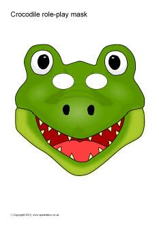 Crocodile role-play masks (SB1488) - SparkleBox