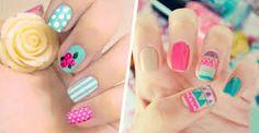 Floral and trival Cheetah Nail Designs, Cheetah Nails, Flower Nail Art, Polish, Floral, Beauty, Ukelele, Tumblr, Google Search