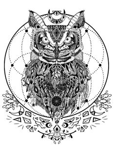 Wild and free spirit animals - printable coloring book page and crystal grid. Adult coloring books, art therapy, and coloring for zen are all the rage. This boho design is available on Etsy to print! Only $2.00!