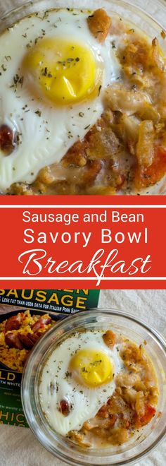 Move over smoothie bowls. it's time for some savory breakfast bowls. Pack with protein these sausage and bean bowls will keep you full all morning long!