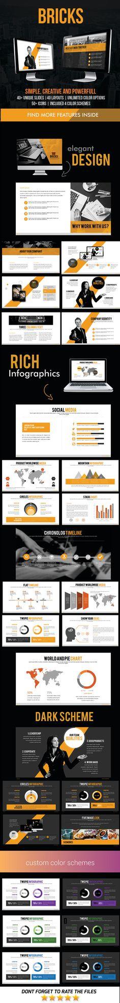 Bricks PowerPoint Template #design Download: http://graphicriver.net/item/bricks-powerpoint-template/11760035?ref=ksioks