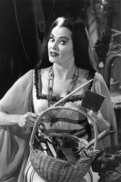 Yvonne De Carlo As  Lilly  Munster In A Scene From They 60's Sitcom The Munsters.