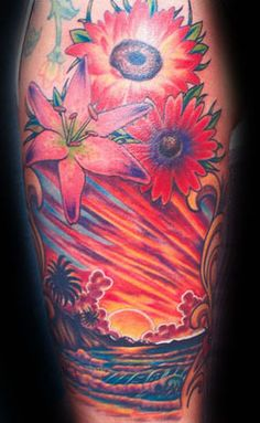 Tattoo ideas on pinterest sunset tattoos beach sunsets for Beach sunset tattoos