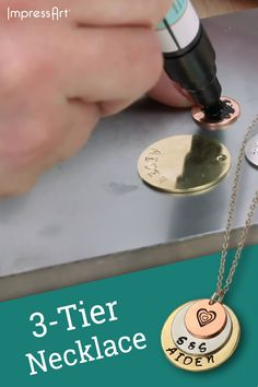 DIY Necklace Craft project for beginners This is an awesome project for a crafter of any skill level. We have provided a full project tutorial video for this project and many others on our website! These videos are for anyone from the beginner to. Diy Jewelry Unique, Diy Jewelry To Sell, Jewelry Crafts, Handmade Jewelry, Metal Jewelry Making, Custom Jewelry, Diy Jewelry Videos, Jewelry Making Tutorials, Video Tutorials