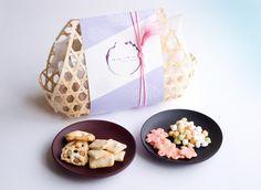 商品詳細 季節のあられ 竹かご入り(8袋入り) つ・い・つ・い TWHI TWHI SENBEI ARARE