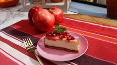 Get Cheesecake with Pomegranate Sauce Recipe from Food Network