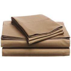 California King 400-TC Egyptian Cotton Sheet Set in Chestnut Brown