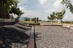 A memorial to the founder of a corn-processing facility in Jalisco sits at the heart of this complex designed by Mexican architecture firm Atelier Ars. Modern Landscape Design, Landscape Architecture, West Chicago, Landscaping Work, Street Furniture, Landscape Photographers, B & B, Fountain, Mexico