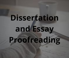 dissertation and essay proofreading at toro editing services