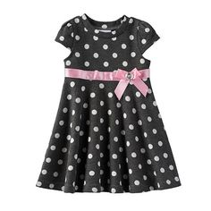 Blueberi Boulevard Polka-Dot Dress - Baby Girl
