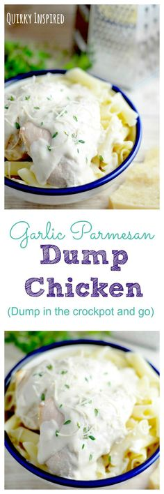 Sometimes no time for dinner happens. We need easy dinner ideas, and this dump chicken recipe is amazing! Just pull out your crockpot, dump and it's done! Click the pin for the full recipe