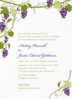 Bordeaux Invitation card by Hello!Lucky on Postable.com