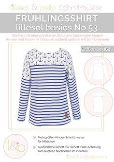 Ebook / Schnittmuster lillesol basics No.53 Frühlingsshirt