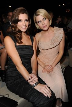Ashley Greene and Rachael Taylor Front Row at Donna Karan
