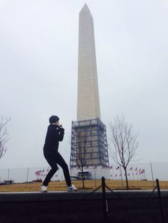 Washington Monument in D.C.  when I was there, it was on repair but great !