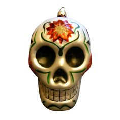 Christmas Calavera Ornament, $24, now featured on Fab.com. Add a little Dia de Los Muertos to your tree this year with the Christmas Calavera Ornament. Traditionally made out of sugar, this customary decorated skull is reproduced as a gorgeous tree ornament by Darlene Tenes.