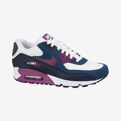 Nike trainers sale Air Max 90 Essential White/Bright Grape-Obsidian Shoes Women's Shoes