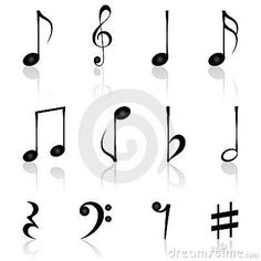 Musical Notes Tattoo | all the music notes, music notes, tattoos, tattoo designs, tattoo ...