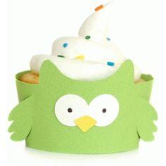 Silhouette Design Store: owl cupcake wrapper