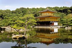 The golden temple in Kyoto : Kinkakuji, Japan http://www.photos-du-japon.fr/