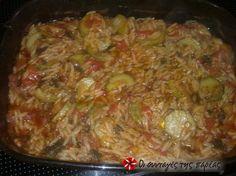 Γιουβετσάκι με λαχανικά (Ψευτογιούβετσο) #sintagespareas Food Network Recipes, Cooking Recipes, The Kitchen Food Network, Recipe Images, Mashed Potatoes, Rice, Beef, Vegan, Chicken