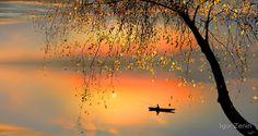 Река осень заря