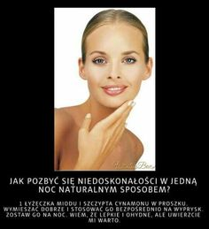 na wypryski na tablicy DIY przypisanej do kategorii DIY - Zrób to sam Raw For Beauty, Beauty Bar, Health And Beauty, Face Care, Body Care, Skin Care, Simple Life Hacks, Face Skin, Physical Activities